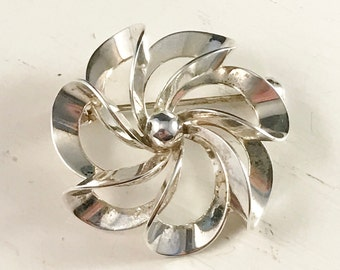 Vintage NE FROM Denmark Sterling Silver Brooch.