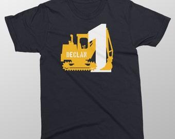 Digger birthday shirt toddler construction birthday shirt Toddler birthday digger t-shirt