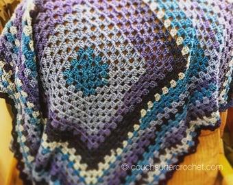 Granny Square Blanket / Baby Blanket / Granny Square / Crochet Blanket / Baby Gift / Nursery Bedding / Stroller Crib Car Seat Blanket