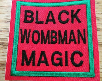 Black Wombman Magic Sew On Patch Square Styled