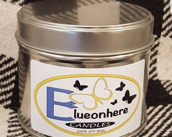 Fresh Linen Soy Scented Candle Small Tin
