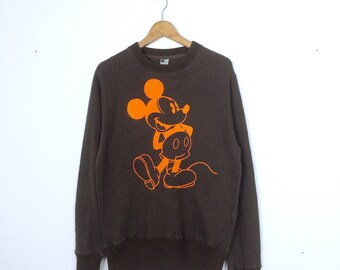 MICKEY MOUSE pull over crewneck sweatshirt L size