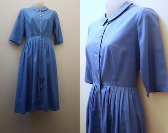 1960s Dress // Vintage 50s/60s Handmade Peter Pan Collar Dress