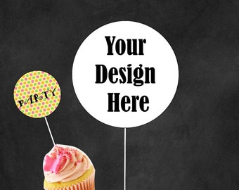 Personalized Cupcake Toppers,Wedding, Shower, Party Decor, Customized Cupcake Topper, Cupcake Topper