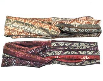 Tribal headband-Twist headband-Ethnic headband-Ethnic turban-Tribal turban-Knot headband-Hippie headband-Hippie turban-Yoga headband