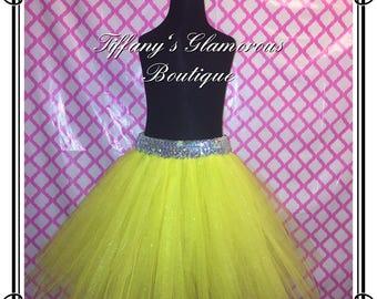 Yellow glitter tutu