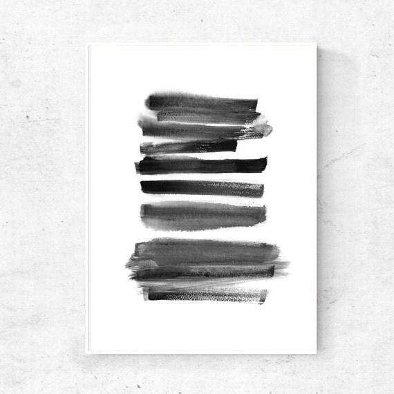 Black and white line painting digital art print black line watercolor painting art download poster 5x7 art print 4x6 print 18x24 print