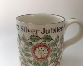 National Trust Boncath Dorn Williams Mug to commemorate Queen Elizabeth II Silver Jubilee 1977