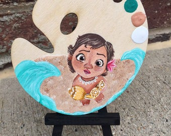 Baby Moana mini painted palette
