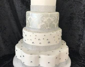 Bling faux wedding cake