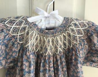 Ribbon Smocked Bishop Dress Size 2