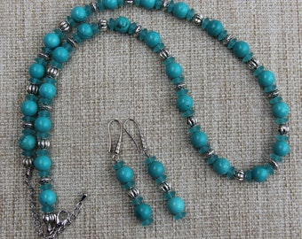 Turquoise and Sea Glass Necklace