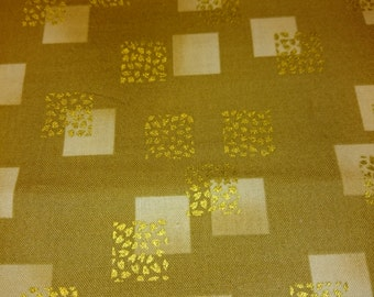 """Robert Kaufman     """"Imperial Collectio""""  Squares Metalic Gold   BTY"""