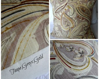 Taupes.Creams.Golds,Tans.Pillow Covers. Slip Covers.Home Decor.Slub.Linen Look.Pillow Cover.Slip Cover.Beautiful Decor
