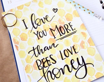 love you more than - poster / handlettered