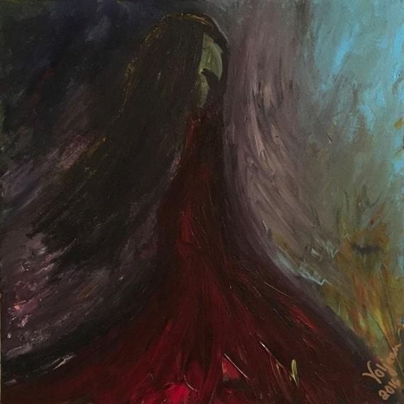 Original Abstract Painting 16 x 16 'Secrets Untold'