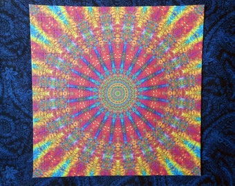 "Blotter Art ""Fractal Sun"" Perforated Print Paper Psychedelic Acid Art Collection"