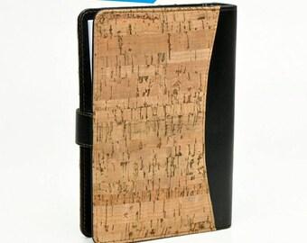 Vegan notebook, cork notebook, wooden binder books, vegan cover books, vegan cover notebook, cork cover notebooks, handmade