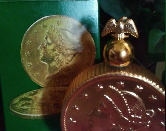 BNIB Twenty Dollar Gold Piece Windjammer Aftershave