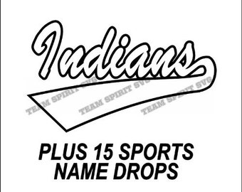 Indians Swoosh Download Files - SVG, DXF, EPS, Silhouette Studio, Vinyl Cutting Files, Digital Cut Files - Use with Cricut and Silhouette