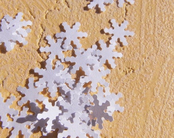 Confetti snowflake confetti scattered parts white winter Christmas snow flake table decorations