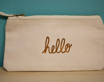 Hello – Natural make up pouch