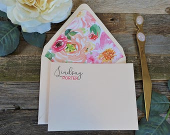 Garden Party Floral Personalized Stationery Set