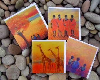 Greeting cards, Art cards, Blank Cards, Taide kortit, Floral cards, ethnic cards, African cards, birthday cards, thank you cards