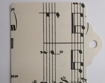 Vintage Music Tags Square x 10 - Handmade from authentic vintage sheet music paper