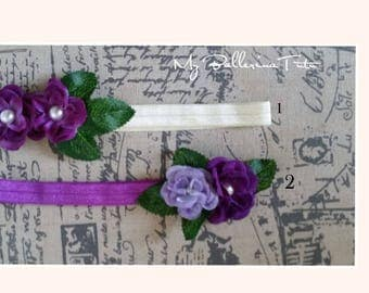 Purple Headband, Beige and Purple Hedband