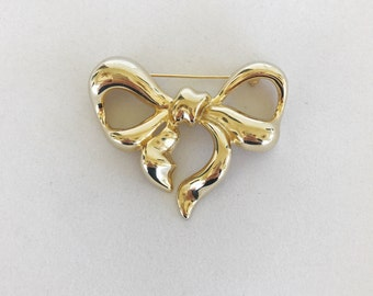 Vintage Givenchy Paris New York Golden Bow Brooch