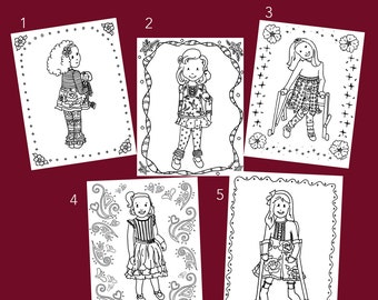 Matilda Jane Theme Release 4 Coloring Pages