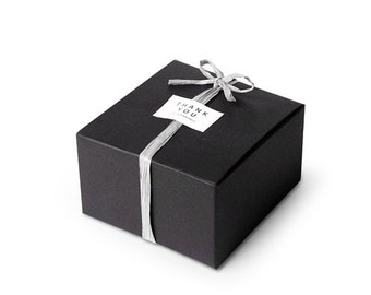 6 black mini gift box, black favor box, small box, black gift box, black soap box, candle box, favor container, wedding favor box, black