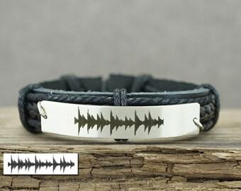 HeartBeat Bracelet, Sound Waves Bracelet, Voice Sound Bracelet, Ultrasound Bracelet, EKG Bracelet, Engraved Bracelet, Memorial Jewelry