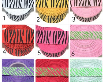Zebra Ribbon, Zebra Print Ribbon, Zebra Grosgrain Ribbon