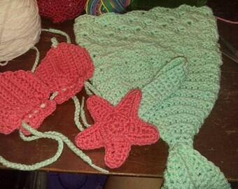 Newborn Mermaid Photo Set