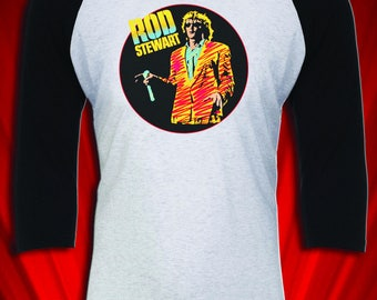 Rod Stewart 1986 Vintage Tour Tee Jersey Every Beat of my Heart