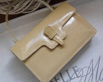 A petite 70erJahre snakes - handbag - beige best State -