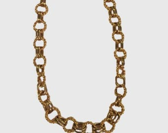 Vintage Thick Gold Link Chain Necklace
