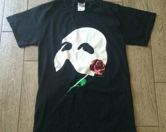 Vintage 1986 Phantom of the Opera Big Mask Graphic T-shirt Size Small