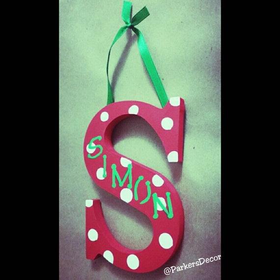 Personalized Ornament-Christmas Door hanger-Wall hanger