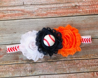 Detroit Tigers Headband/Baseball Headband/Headband/Tigers/Baseball/Tigers Headband/Tigers Baseball/Baby Headband/Newborn Headband/Baby Girl