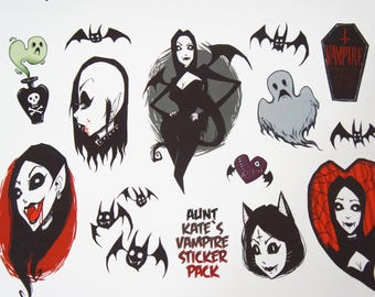 AuntKate Vampire StickerPack