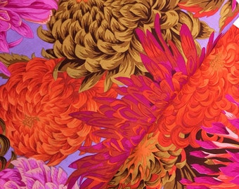 Japanese Chrysanthemum in Pink from the Kaffe Fassett Collective Fall 2015 - Philip Jacobs - Japanese Chrysanthemum in Pink