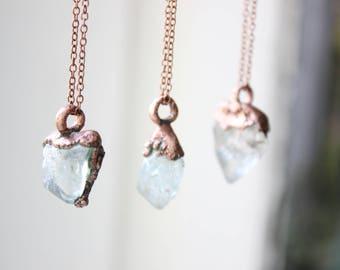 Topaz necklace Topaz pendant Electroformed topaz Electroformed pendant Natural topaz Raw topaz necklace Electroformed jewelry Gift for girl