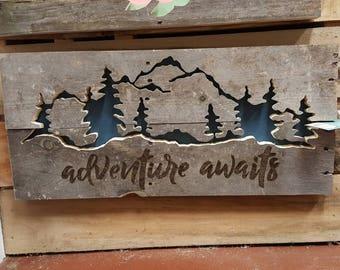 Adventure Awaits Pallet Art