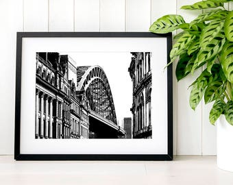 Tyne Bridge wall art print gift-for-him Geordie fine art photography gift-for-men Gift from son to dad Gift-for-brother Son-gift-ideas decor