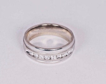 14K White Gold Diamond Ring with app.1/2ct. tw. , Size 10