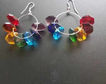 Chakra Octagon Earrings
