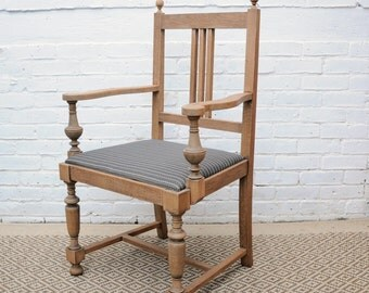 Old Victorian Throne Armchair Side Chair